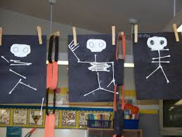 Halloween Skeleton Names Cotton Swab Q Tip Skeletons California Kindergarten Association