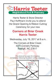grand opening of harris teeter store in raleigh n c harris teeter