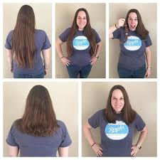 cut and inch off hair come fly with us mom hair and a donation