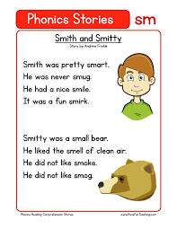 reading comprehension worksheet smith and smitty