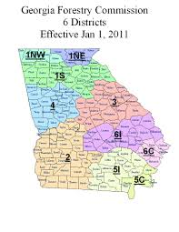 State Of Ga Map by The 12 Districts Of Georgia Forestry Commission