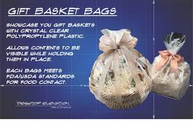 where to buy plastic wrap for gift baskets clear polypropylene gift basket bags