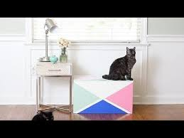 How To Make A Small Toy Box by How To Make A Stylish Litter Box From An Old Toy Chest Youtube
