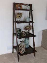 home decor shelves decorating attractive leaning ladder shelf for middle room design
