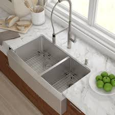 kraus stainless steel 35 88 x 20 75 basin farmhouse