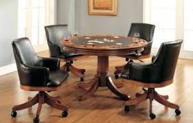Chromcraft Furniture Kitchen Chair With Wheels Kitchen Chairs On Wheels Image Of Dining Room Chairs With Casters