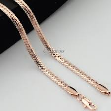 rose gold snake necklace images 1pcs 45cm 70cm long 3mm 4mm men 39 s women couple rose gold filled jpg