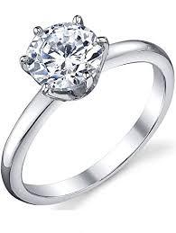 4 carat cubic zirconia engagement rings 1 25 carat brilliant cubic zirconia cz sterling