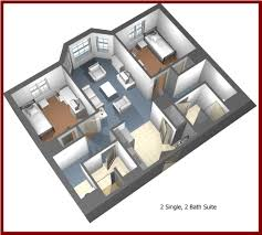 Types Of Apartment Layouts Residence Halls Slippery Rock University