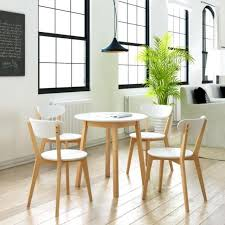 dining table set 4 seater 5pc small round wooden dining room table chair set 4 seater white
