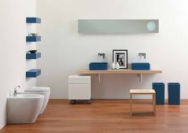 Contemporary Bathroom Shelves Astounding Modern Minimalist Bathroom Design Ideas Also Blue