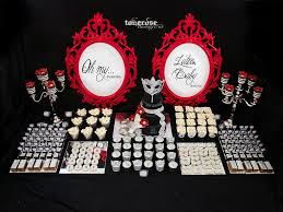 fifty shades of grey dessert table black silver grey