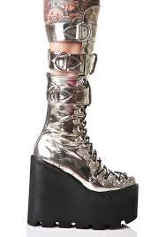 current mood metallic guardian boots dolls kill