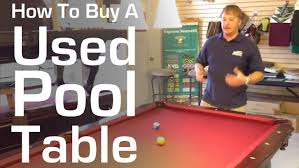 used pool tables for sale by owner how to buy a used pool table youtube