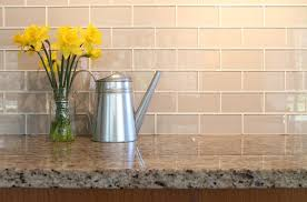 GlasssubwaytileKitchenContemporarywithbacksplashcreamsoda - Daltile backsplash