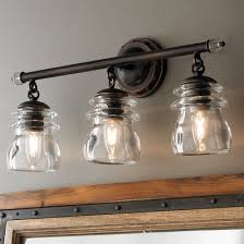 3 Light Ceiling Fixture Industrial Rustic Farmhouse Bath Lighting Shades Of Light