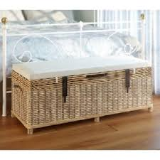 Foot Of Bed Storage Bench Bedroom Storage Bench Seat Large Rattan Ottoman Shoe Box Foot