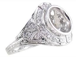 designer jewelry art deco diamond ring r0553