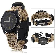 paracord survival whistle bracelet images Buy paracord watch survival bracelet with compass flint and jpg