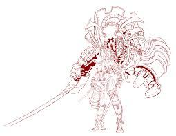 ferrari logo sketch artstation cyberpunk samura ferrari jr llamzon
