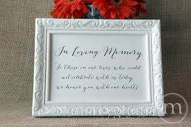 in loving memory wedding in loving memory sign table card wedding reception seating