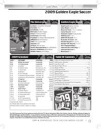 2009 tennessee tech soccer media guide by tennessee tech sports