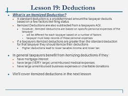 vita 01 17 09 lesson 19 standard deduction and tax computation