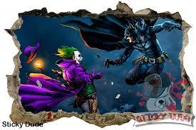amazon com 3d effect joker and batman wall decal 35 amazon com 3d effect joker and batman wall decal 35