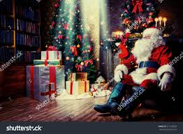 santa claus brought gifts christmas having stock photo 217178239