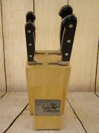 wolfgang puck kitchen knives wolfgang puck 4 kitchen knife block set ebay