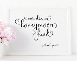 honeymoon fund bridal shower honeymoon fund etsy