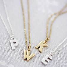 letter necklace jewelry images Personalised chunky letter necklace letter necklace silver jpg