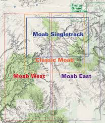 latitude map moab west trails utah recreation topo map latitude 40 maps