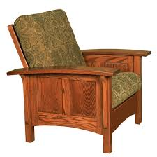 paneled mission morris chair with adjustable back from dutchcrafters