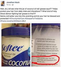greaser hairstyle product this post about coconut oil hair conditioner marketing had me in
