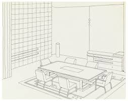 drawing design for a dining room contemporary american