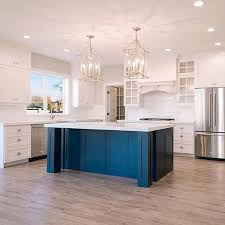 blue kitchen island and white cabinets 30 gorgeous blue kitchen decor ideas digsdigs
