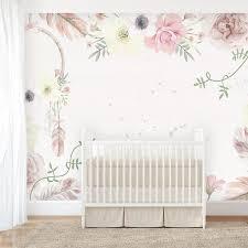 girls boho floral wallpaper u2013 ginger monkey