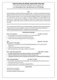 Resume Examples For Cna by Cna Resumes 8 Objective Resume Certified Nursing Assistant Resume
