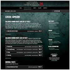 halloween horror nights tickets hhn website