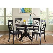 Brynwood Black  Pc Round Dining Set Dining Room Sets Black - Black round dining room table
