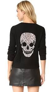 skull sweater 360 sweater raj leopard skull sweater shopbop