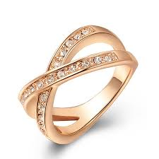 Wedding Rings For Girls by Latest Style Austrian Crystal Rose Gold Wedding Rings For Women