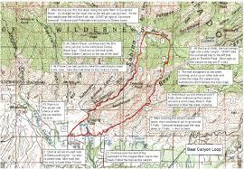 Bear Creek Trail Map Bear Canyon Loop Tucson Trail Runners