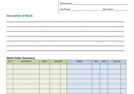 work order sheet sample and free order form template 77d work