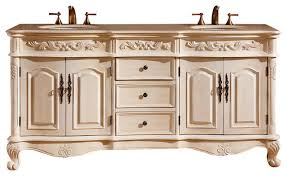 Marble Top Bathroom Cabinet Lucinda Double Sink Bathroom Vanity Cream Marfil Marble Top 72