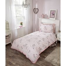 kids fairy single duvet set pink girls bedding b u0026m