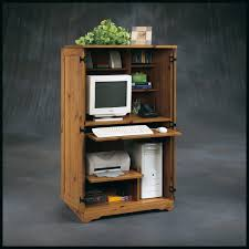 Sauder Computer Desk Cinnamon Cherry by Furniture Sauder Edge Water Computer Armoire Plus Hutch And Desk