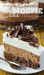 triple chocolate mouse cake recipe omg chocolate desserts
