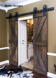 Diy Bypass Barn Door Hardware by Barn Door Hardware Bypass Doors On A Single Rail This Would